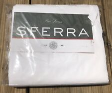 Sferra Twin Sheet Set Percale Weave 100% Cotton Solid White Adelina NEW