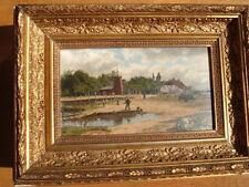 Künstlerische auf Holz im Impressionismus-Stil mit Öl-Technik von 1800-1899