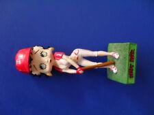 figurine collection résine betty boop joueuse de base ball14 cm héros cartoons