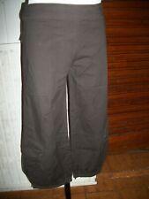Pantalon court pantacourt coton marron bouffant LA MODE EST A VOUS 40 15ETPF9