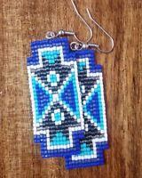 native american indian beaded earrings