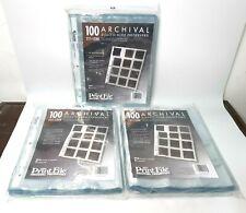 New Lot x3 Packs Print File 225-12HB 6x6cm /100 Pages Slide Frames of 120mm—K9