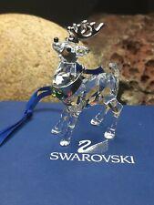 New! Box Green Jewels Reindeer Swarovski Crystal Figurines Christmas Ornament