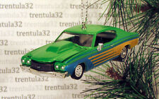 '70 CHEVY CHEVELLE SS 1970 CHEVROLET GREEN YELLOW CHRISTMAS TREE ORNAMENT XMAS