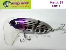 Kingfisher Mantis 88mm jointed cod surface lure; 11 light purple head