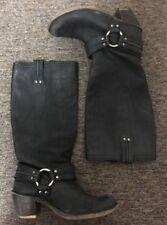 Frye Carmen Harness Tall Women US 9 Black Western Boot Pre Owned
