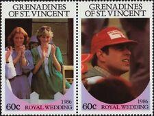 ST. VINCENT GRENADINES -1986- Andrew & Sarah Royal Wedding - MNH Se-Tenant  #539