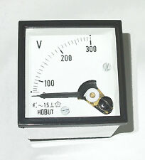 Voltmeter  0-300volts  DIN48  Main  Industrial, Domestic, Auto, Marine    DCV300