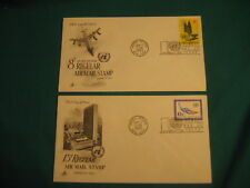 8c/13c-First Day of Issue of Un-Ny Airmail-ArtCraft Cachet-#C9-10-Lot of 2
