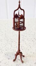 Dolls house miniature 1:12 fine BESPAQ birdcage + stand set