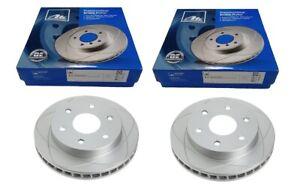 2 X ATE PremiumOne SLOTTED FRONT BRAKE DISC for CHEVROLET ASTRO GMC SAFARI 02-05