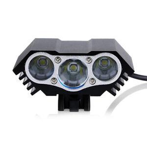 USB Bicycle Bike Headlight USB LED Light Front Lamp Alloy 30W IP65 Waterproof