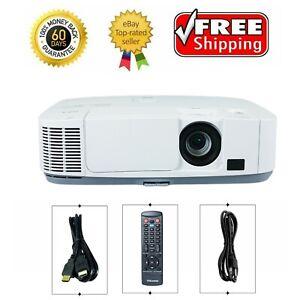 NEC P401W 3LCD Projector 4000 ANSI HD 1080i HDMI x 2 16:10 (WXGA) w/bundle