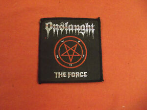 ONSLAUGHT ORIGINAL PERIOD 70's 80's 90's SEW ON PATCH ROCK BAND METAL NOS NEW