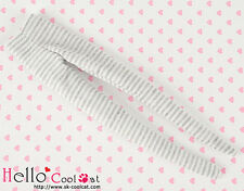 ☆╮Cool Cat╭☆【PP-114】Pullip Pantyhoses Doll Socks #Thin Stripe Grey+White