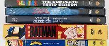 DC Animated TV DVD Lot of 5 - Batman Vol 1/Young Justice/Teen Titans/Superman