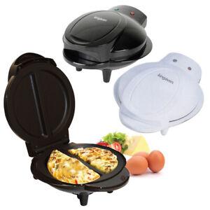 750W Home Kitchen Electric Non Stick Omelette Maker Egg Cooker Black / White