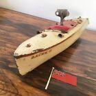 Vintage Hornby Meccano Model Speed Boat Clockwork