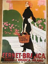 Fernet Branca Milano poster. 24 By 36 Inch