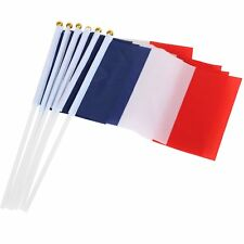 10 Nylon Handheld France Waving Flags Bastille Day Celebration Sport Support - B