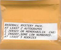 PREMIUM BASEBALL MYSTERY PACK,2 AUTO.,1 RELIC,1 INSERT ,5 ROOKIES