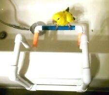 """Bath / Shower and Travel Perch stand- Keep your birdie safe and happy! 1/2"""" pvc."""