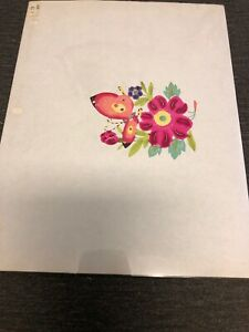 Chinese Paper Cuts Butterfly on colorful pieces Zhou Hand Cut Decoration Art