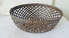 Vintage Old Iron Hand Crafted Collectible  OVEL Tribal Basket