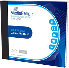 10 Mediarange Rohlinge Blu-ray BD-R Dual Layer 50GB 6x Jewelcase