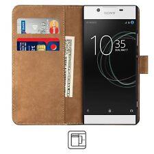 BLACK Sony Xperia L1 Custodia Premium Pelle Custodia TELEFONO COVER