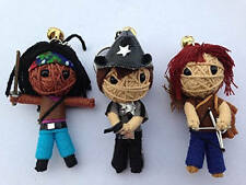 Zombie Killer Set 3 x Voodoo String Doll Keychain Keyring