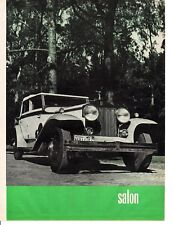 1931 ROLLS-ROYCE PHANTOM I SPRINGFIELD ~ GREAT 5-PAGE 1962 ARTICLE / AD