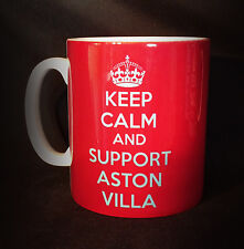 NEW KEEP CALM AND SUPPORT ASTON VILLA GIFT MUG CUP PRESENT FOOTBALL CLUB FC FAN