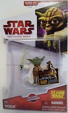 "YODA Star Wars The Clone Wars 3 3/4"" inch Action Figure #CW14 2009"