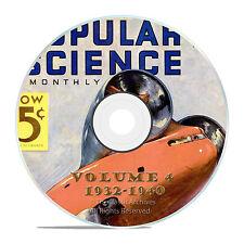 Vintage Popular Science Magazine, Volume 4 DVD, 1932-1940, 101 issues, V04