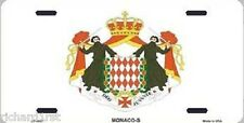 "Aluminum National Flag Monaco State Flag ""License Plate"" NEW"