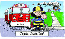 Caricatures Fire Fighters My Hero Design Personalized