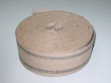 72 Yard Roll 3 1/2 Inch 9 lb Black Stripe Jute Webbing ~Upholstery Supplies~