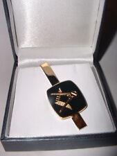 Masonic tie bar, black & gold, Craft