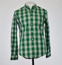Tommy Hilfiger hombre verde a medida de cuadros abotonado camisa S