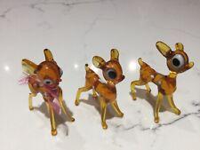 Vintage Murano lamp work animals bambi