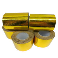 Gold Roll Adhesive Reflective High Temperature Heat Shield Wrap Tape 50mm * 10M