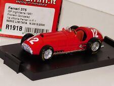 FERRARI 375 #12 GONZALEZ 1st VICTORY SILVERSTONE GP 1951 BRUMM R191B 1:43