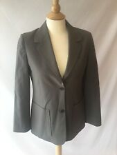 Cour Carre Women's Taupe Gray Wool Blend Blazer 2 Button Career Size 44 US 8 10