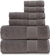 New! Ralph Lauren Sanders True Charcoal 6 Pc Bath & Hand Towel & Washcloth Set