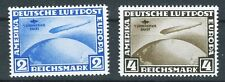 1930 GERMANY ZEPPELIN REPRINTS MINT NEVER HINGED AMERICA FLIGHT C38/9