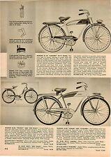 1957 PAPER AD 3 PG Monark Bicycle Bike Coronet Holiday Sun Valley Americana