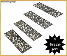 Rubber Stair Step Treads Mat Scrolled BUTTERFLY Outdoor Porch Traction ~ CHOICES