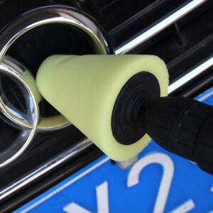 1x Cone Shaped Polishing Sponge Tool For Automobile Wheel Hub Yellow