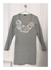 Women's Designer Wren Blue And White Stripe Long Sleeve Dress Size Small